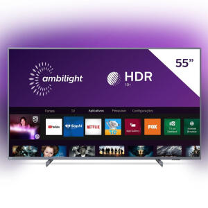 [C.Shoptime + AME = R$2.300 ] Smart TV LED 55'' Philips 55PUG6794 4K Ultra HD | R$2.400