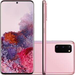 Galaxy S20 128GB Câmera Tripla Traseira 64MP+12MP+12MP (UW) Câmera Frontal 10MP (Cloud Pink) - R$2850
