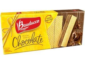 [Cliente ouro + APP - R$1,33] Biscoito Recheado Chocolate Wafer Bauducco 140g | R$2,59