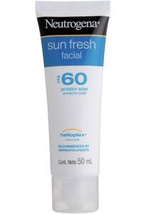 Protetor Solar Sun Fresh Facial FPS 60, Neutrogena, 50g - R$27