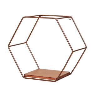 Nicho Hexagonal Katarine Marrom   R$53