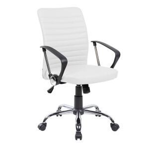 Cadeira de Escritório Diretor Giratória Oslo Branca | R$ 550