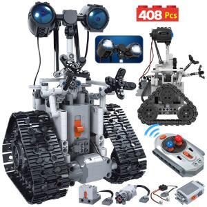 Blocos de construção Robô elétrico - Montagem 408pçs com controle | R$215