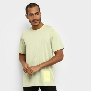 Camiseta Adidas Inside Mesh Tech Masculina - Amarelo | R$ 24