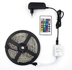 Fita de LED RGB com 5 Metros + Controle | R$ 42