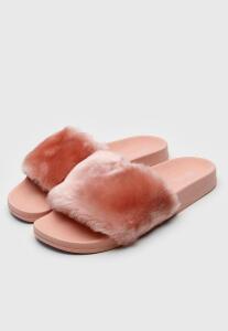 Rasteira Slide Santa Lolla Pelos Rosa | R$ 70