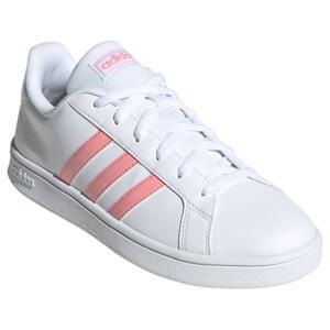 Tênis Adidas Grand Court Base Feminino - Branco e Rosa | R$160