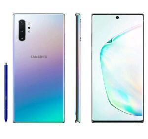 "Smartphone Samsung Galaxy Note 10+ 256GB Prata 4G - 12GB RAM 6,8"" Câm. Quadrupla + Câm. Selfie 10MP | R$ 3149"