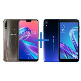 Smartphone ASUS Zenfone Max Pro (M2) 4GB/64GB Titanium + Smartphone ASUS Zenfone Live L2 OctaCore 435 Azul | R$ 1169