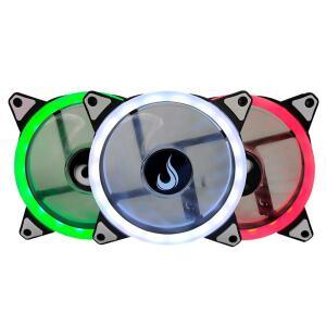 Kit Cooler FAN Rise Smart, Dual Led, RGB 120mm RM-FN-02-RGB | R$ 116