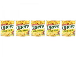 Milho em Conserva Quero 170g - 5 Unidades | R$ 5,00