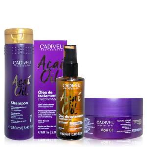 Kit Cadiveu Professional Açaí Oil Home Care - 3 Produtos | R$88