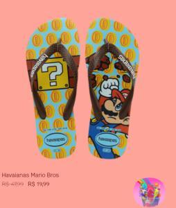 Havaiana Mário Bros | R$20