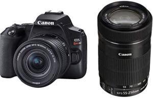 Kit Premium Canon EOS Rebel SL3 4K + Lentes 18-55mm e 55-250mm IS STM