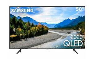 "TV LED 50"" Samsung Smart TV Q60T QLED 4K- R$2375"