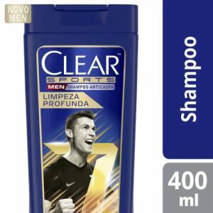 (6 unidades, R$11,25 cada) Shampoo Clear Men Sports Limpeza Profunda 400ml