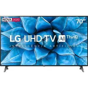 "Smart TV LG AI ThinQ 70UN7310PSC LED 4K 70"" | R$3999"