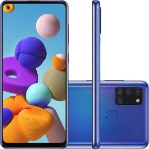 "Smartphone Samsung Galaxy A21s - Dual Chip - Tela 6.5"" - Octa-Core - 64GB 4G - Azul"