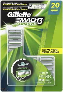 Carga para Gillette Mach3 20 unidades. | R$90