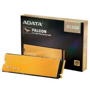 SSD Adata Falcon, 512GB, M.2 PCIe, Leituras: 3100MB/s e Gravações: 1500MB/s   R$465