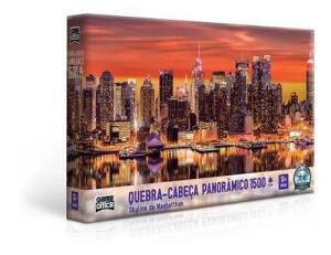 Quebra Cabeça 1500 Peças Skyline Manhatthan - Toyster | R$37