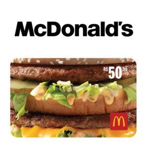 Troque 50 pontos por um Gift Card do McDonald's no valor de R$50,00.