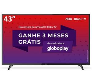 "AOC Roku TV Smart TV LED 43"" 43S5195/78 com Wi-fi R$1599"