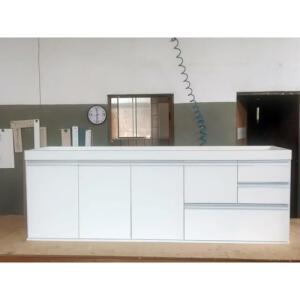 Gabinete de Cozinha Branco MDF - 2 metros