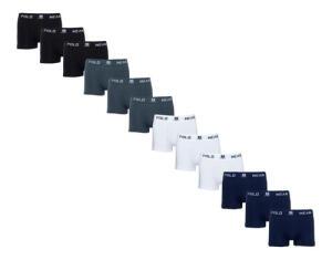 Kit 12 Cuecas Boxer Microfibra Polo Wear | R$ 109,99