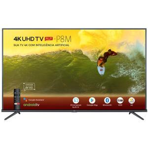 "(APP) Smart TV 4K LED 50"" TCL 50P8M Android Wi-Fi - Bluetooth HDR Inteligência Artificial 3 HDMI 2 USB"