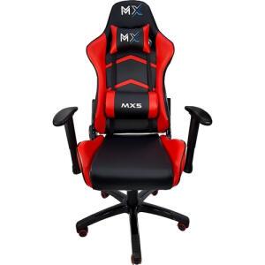Cadeira Gamer MX5 Giratoria Preto/Vermelho - MYMAX | R$ 699