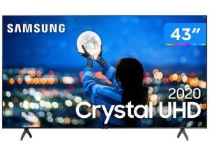 "Smart TV Crystal UHD 4K LED 43"" Samsung-43TU7000 Wi-Fi Bluetooth HDR 2 HDMI 1 USB | R$ 1799"