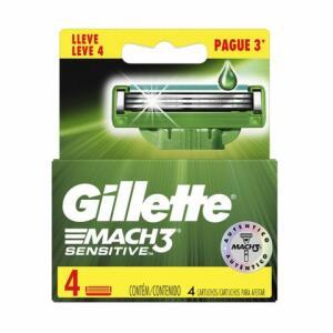Carga Para Aparelho De Barbear Gillette Mach3 Sensitive Leve 4 Pague 3 | R$ 24