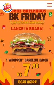 Whopper barbecue bacon - R$8