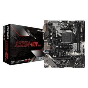 Placa-Mãe ASRock A320M-HDV R4.0, AMD AM4, Micro ATX, DDR4 | R$ 399