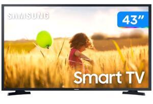 "(Cliente ouro+dinheiro de volta) Smart TV Full HD LED 43"" Samsung 43T5300A - Wi-fi HDR 2 HDMI 1 USB - R$1565"