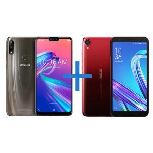 Smartphone ASUS Zenfone Max Pro (M2) 4GB/64GB Titanium + Smartphone ASUS Zenfone Live L2 OctaCore 435 Vermelho | R$ 1259