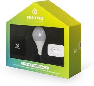 Kit Casa Conectada Positivo com Controle Universal + Lâmpada Wi-Fi + Plug Wi-Fi R$259