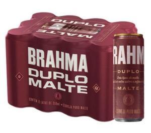 (Cupom + Cashback) Cerveja Brahma duplo malte. -R$2