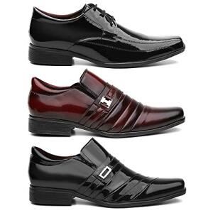 Kit 3 Pares Sapato Social Masculino Veniz varios tamanhos valor 134,90 tamanho 37 ao 44 R$135