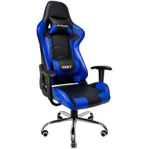Cadeira Gamer Mymax Mx7 Giratória Preta/Azul | R$809