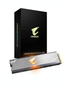 SSD Gigabyte Aorus RGB 256GB, M.2 NVMe, Leituras: 3100MB/s e Gravações: 1050MB/s   R$400