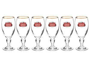 [MAGALUPAY VOLTA R$10,00] Jogo de Taças para Cerveja 6 Peças - 250ml Stella Artois | R$ 80