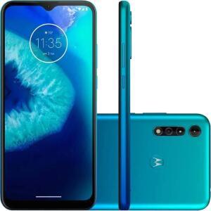 "Celular Moto G8 Power Lite Azul Claro 64GB 6.5"" Motorola   R$1090"