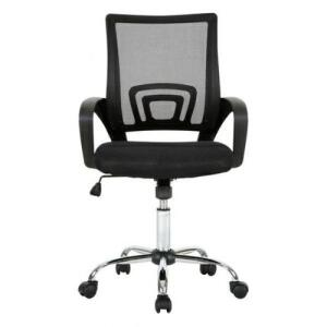 Cadeira de Escritório Multilaser Executiva Cromada Preta GA197