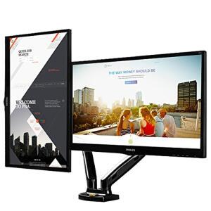 Suporte Articulado De Mesa Para 2 Monitores 15 A 27 Com Ajuste Altura E Pistão A Gás F160n Elg | R$342