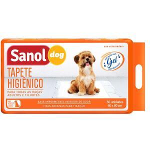[CLIENTE OURO] Tapete Higiênico Sanol Dog (30 unid.) | Leve 6 pague 4 | R$ 24,39 cada