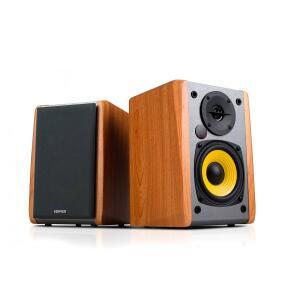 Monitor de Áudio R1010BT Bluetooth 24W RMS EDIFIER - Madeira | R$495