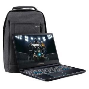 [CUPOM +AME] KIT Notebook Acer Predator Helios 300 – PH315-52-748U GTX 1660TI Core i7 16GB SSD 128GB HD 1TB Win10 + Mochila Gray dual Tone