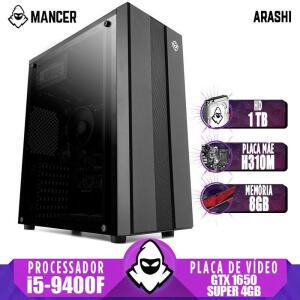 (AME R$ 3577,24 ) PC Gamer Mancer, Intel i5-9400F, GTX 1650 Super 4GB, 8GB DDR4, HD 1TB - R$3.828